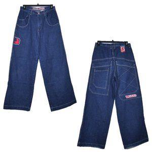 "JNCO COMPRESSOR Baggy 26"" Wide Leg Jeans USA MADE"